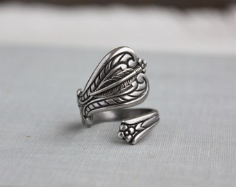 Feather Spoon Ring