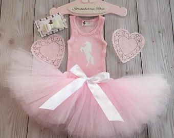 Tutu Dress   Birthday Tutu   Baby Tutu Skirt   Unicorn Birthday Tutu   Strawberrie Rose   1st Birthday Tutu