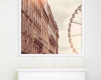"""Paris Photography // Paris Prints // Paris Architecture // Travel Photography // Square Format Prints // Europe  - """"Paris Ferris Wheel"""""""""""