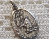 Vintage Medal St. Stanislas Kostka Guardian Angel Italy