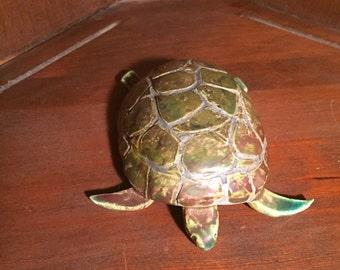 Mid Century Hand Sculptured Turtle/ Ceramic Turtle By Gatormom13