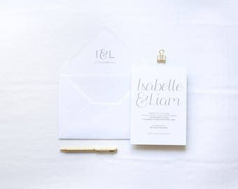 ADD ON: Envelope Liner | Isabelle Wedding Stationery Collection | Hand Lettered Wedding Stationery