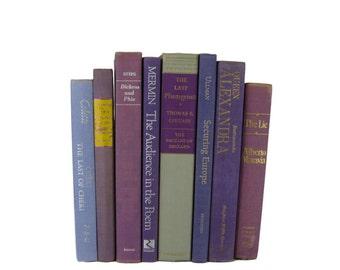 Light Purple  Decorative Books , Vintage Book Decor ,  Photo Prop , Bookshelf Decor  , Home Decor , Old Book Decor ,