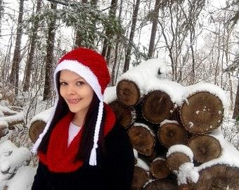 Red Frieda Slouch Hat Ready To Ship Fits Teen to Women, Winter Hat, Crochet Hat, Swirl Hat, Slouchy hat, Bonnet Hat