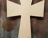 Unfinished Baltic Birch Cross, Ready to Paint, Bulk Orders Welcome,