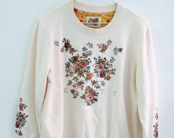 Sale - Embroidered Floral Sweatshirt