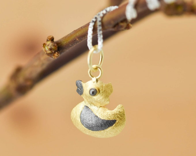Duck Pendant, Duck Necklace, Duck Jewelry, Duck Charm, 925 Sterling Silver, Bridesmaid Gift, Best Friend Gift,  Gift for her