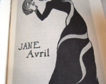 Jane Avril of the Moulin Rouge copyright 1954 Jose Shercliff Library of Congress Toulouse-Lautrec  Christmas Gift