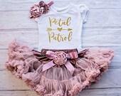 Petal Patrol Outfit, Flower Girl Rehearsal Outfit, Bridal Crew Shirt, Petal Patrol Top, Flower Girl Gift, Wedding Rehearsal