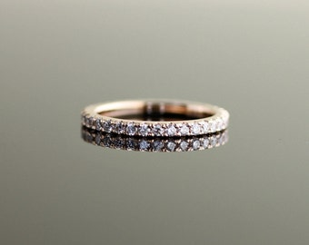 Pave Eternity Band Rose Gold