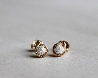 Sparkle Studs, Sparkle earrings, Stardust earrings