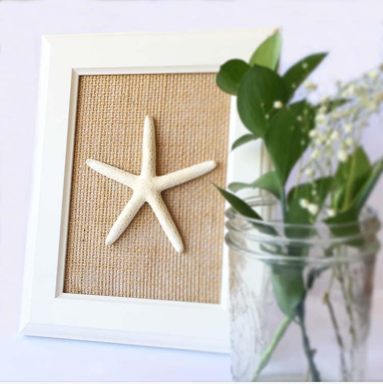 Starfish Beach Wall Hanging - Beach Home Decor - Nautical Decor - Coastal Decor - Starfish Home Decor - Beach Wall Art - Shabby Chic Beach