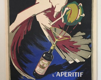 Original Vintage French Poster NUXY L'APERITIF 1935
