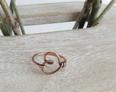 Boho Jewelry, Heart Knuckle Ring, Midi Ring, Love Ring, Gift for Her, Bridesmaids Gifts, Handmade Jewelry, Copper