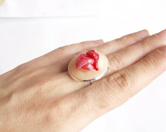 Tongue artisan ring Funny ring Anatomy jewelry Horror ring Cool ring Funky jewelry Unusual ring Weird stuff Designer ring Chunky ring