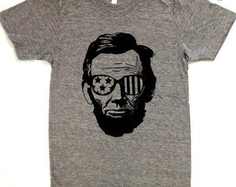 Lincoln...Vintage Independence Day, American, Patriotic, Graphic Tee, July 4th, Fourth of July