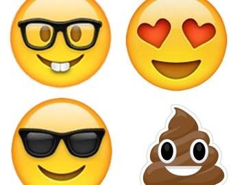 Emoji Magnet Set Refrigerator Magnets Dork | Love | Cool | Poop Emoji