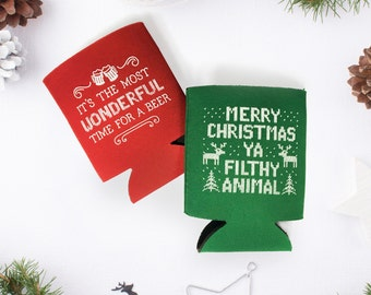 Merry Christmas Ya Filthy Animal Can Cooler Stocking Stuffers