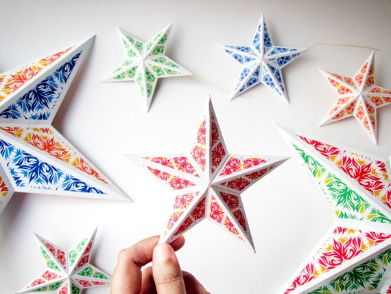 DIY Christmas star ornaments 8 DIY holiday ornaments
