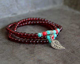 Turquoise Wrap Bracelet With Charm