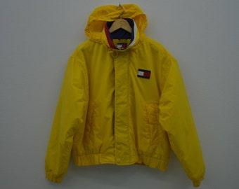 Tommy Hilfiger Jacket Vintage Tommy Hilfiger Windbreaker Tommy Hilfiger Sailing Jacket Mens Size S