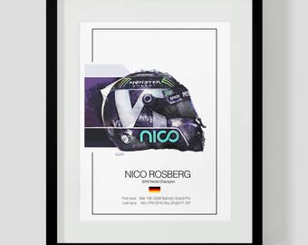 Nico Rosberg Art - Illustration Print - Only 50 for Sale - F1 Gift