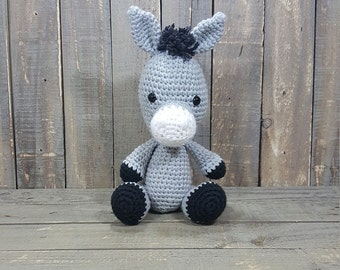Handmade Donkey Crochet Amigurumi PATTERN ONLY. Stuffed Animal / Plush / Stuffie / Plushie / Doll.