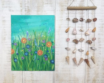 Splattered Wild Flowers Painting