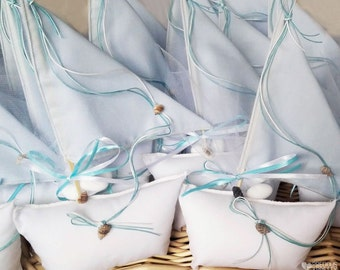 Sail Boat Favors Christening Bombonieres Greek Baptism Favors Nautical Theme Bomboniera Baby Shower Gift Sugared Almonds