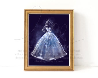 Illuminated Couture (Fashion Illustration Print)