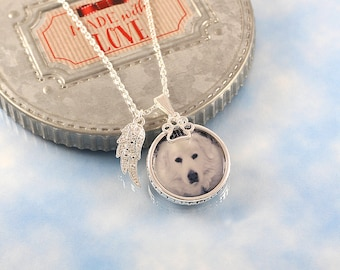 Pet Memorial Necklace, photo charm jewelry, custom portrait jewelry, pet loss gift, pendant picture charm, pet remembrance gift, dog agility