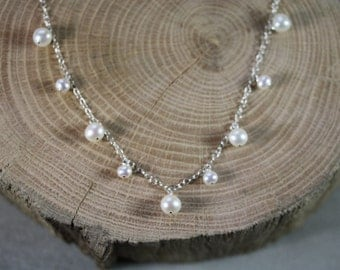 Long Pearl Charmer Necklace