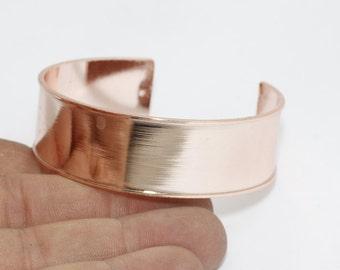 17,5mm Rose Gold Open Cuff Bangle, Cuff Bracelet Bangle, Channel Bracelet, Open Cuff, Wide Open Cuff , CHK9