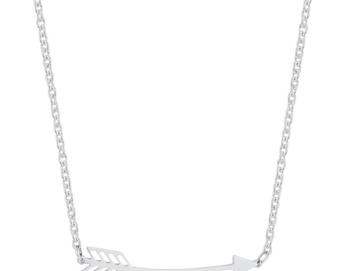 Arrow Necklace, Silvertone Arrow Necklace,  Follow Your Arrow Necklace, 16 inch chain with 2 inch extender