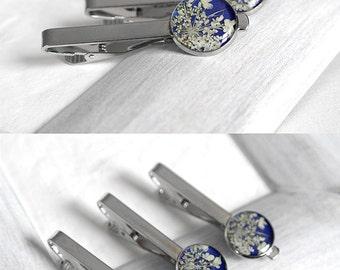 Gift for men Jewelry for men Birthday gift for men Wedding tie clips for him Gift idea for him Gift for him Blue tie clips for him Gift men