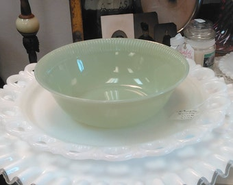 "Vintage Fire King Jadeite ""Jane-Ray"" Serving Bowl!"