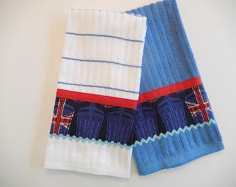 Doctor Who TARDIS Hand Towels/Kitchen Towel Set
