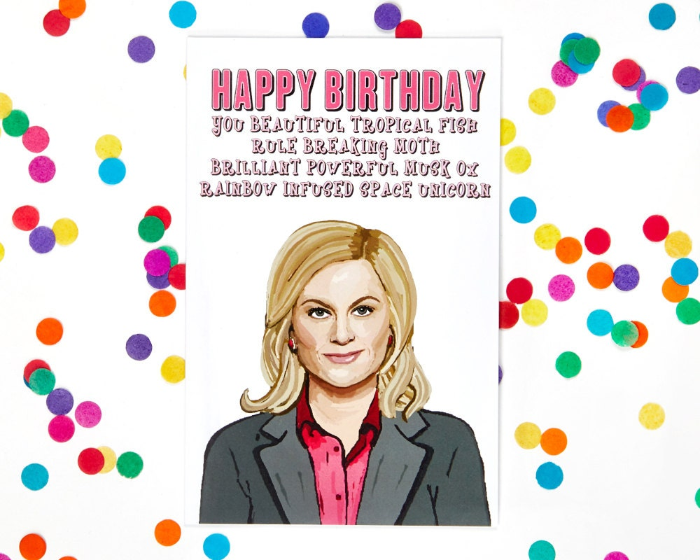 Parks and Rec Leslie Knope Birthday Card Parks and Recreation – Zayn Malik Birthday Card