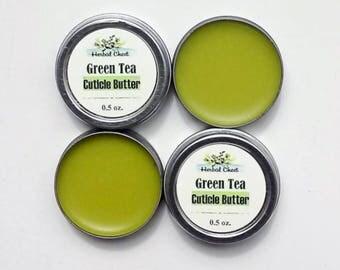Cuticle Butter, Cuticle Cream, Green Tea, Cutical Balm, Cuticle Salve, Matcha, Natural Healing, Nail Care, Organic, Green Tea Oil