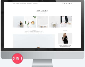 Blogger Template - Premade Blogger Template - Responsive Blogger - Blogger Theme - Minimal - Minimalist - Blogger Templates - Sale Madilyn