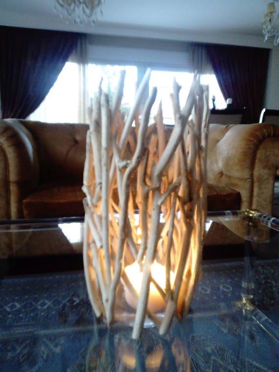 driftwood vasedriftwood candleholderbeach decorcoastalwood. Black Bedroom Furniture Sets. Home Design Ideas