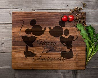 Mickey Mouse Engraved Cutting Board Mickey Mouse Customed Board Gift For Loved Gift For Mickey Mouse Lover