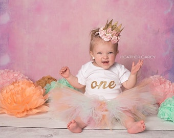 1st Birthday Tutu Outfit   Tutu Dress   Tutu Skirts for Baby Girls   1st Birthday Dress   Pink Mint Peach Baby Dresses