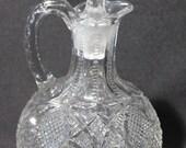 Antique Westmoreland Pressed Glass Cruet, Pattern No. 98