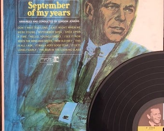 ON SALE Frank Sinatra Record - Frank Sinatra September Of My Years Record - F 1014 - Frank Sinatra Record Album - Sinatra Vinyl Record Album
