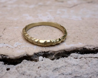 Wedding Ring Thin Wedding Band Gold Ring Gold Wedding Band Jewelry Narrow gold Solid gold Simple wedding ring Engagement Ring Anniversary