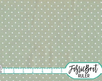 SAGE GREEN Fabric By The Yard Fat Quarter Shabby Chic Sage Polka Dot