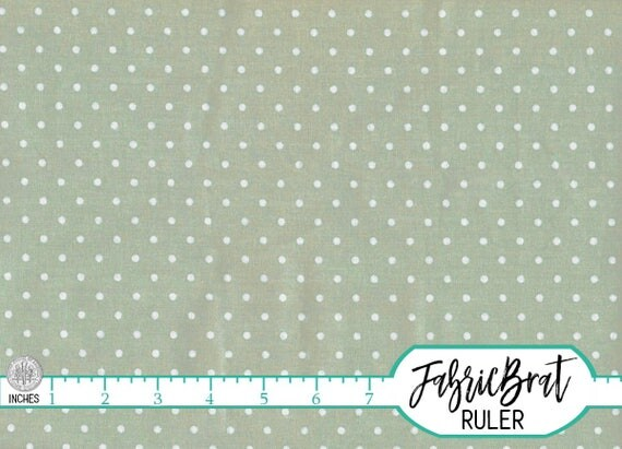 SAGE GREEN Fabric By The Yard Fat Quarter Shabby Chic Fabric