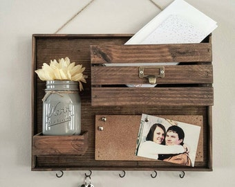 Mail Organizer - Entryway Organizer - Mail Holder - Key Hanger - Command Center
