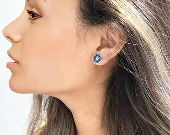 Evil Eye Earrings, Jamila Turquoise Earrings Saridjo